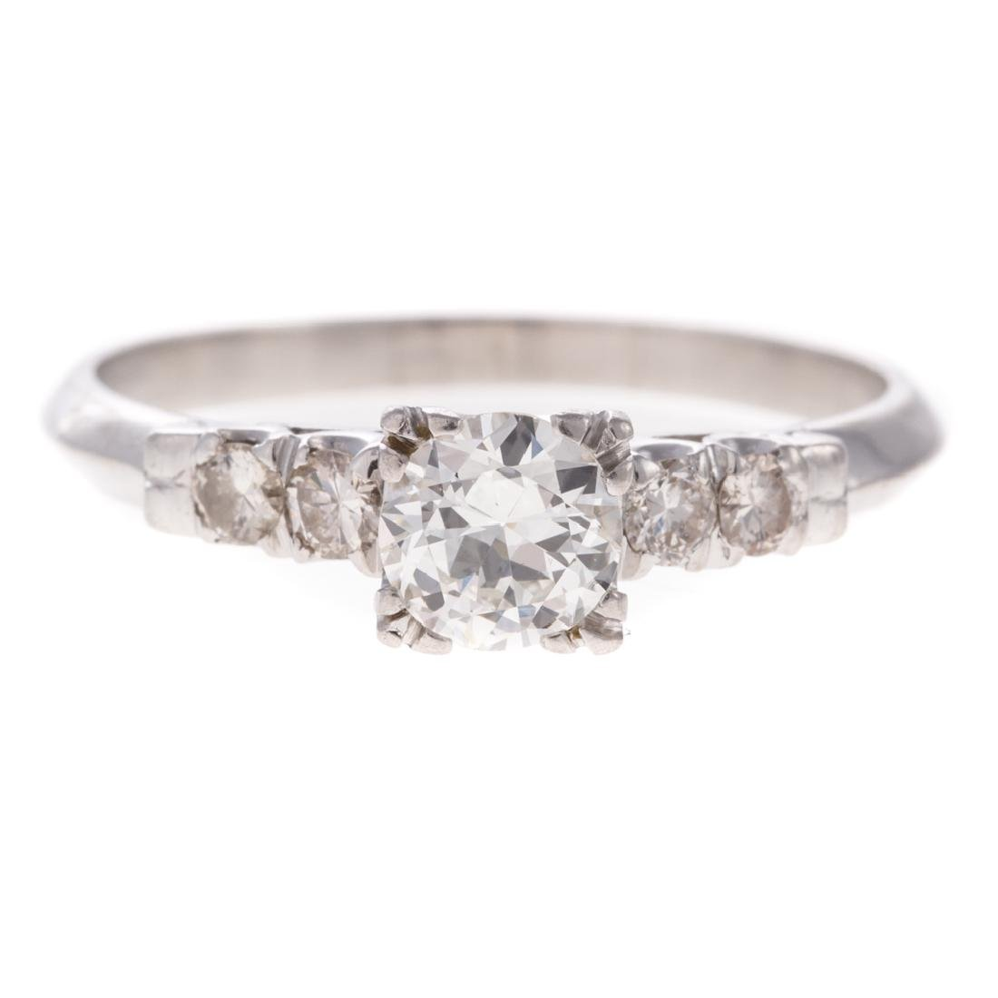 A Lady's Diamond Engagement Ring in Platinum