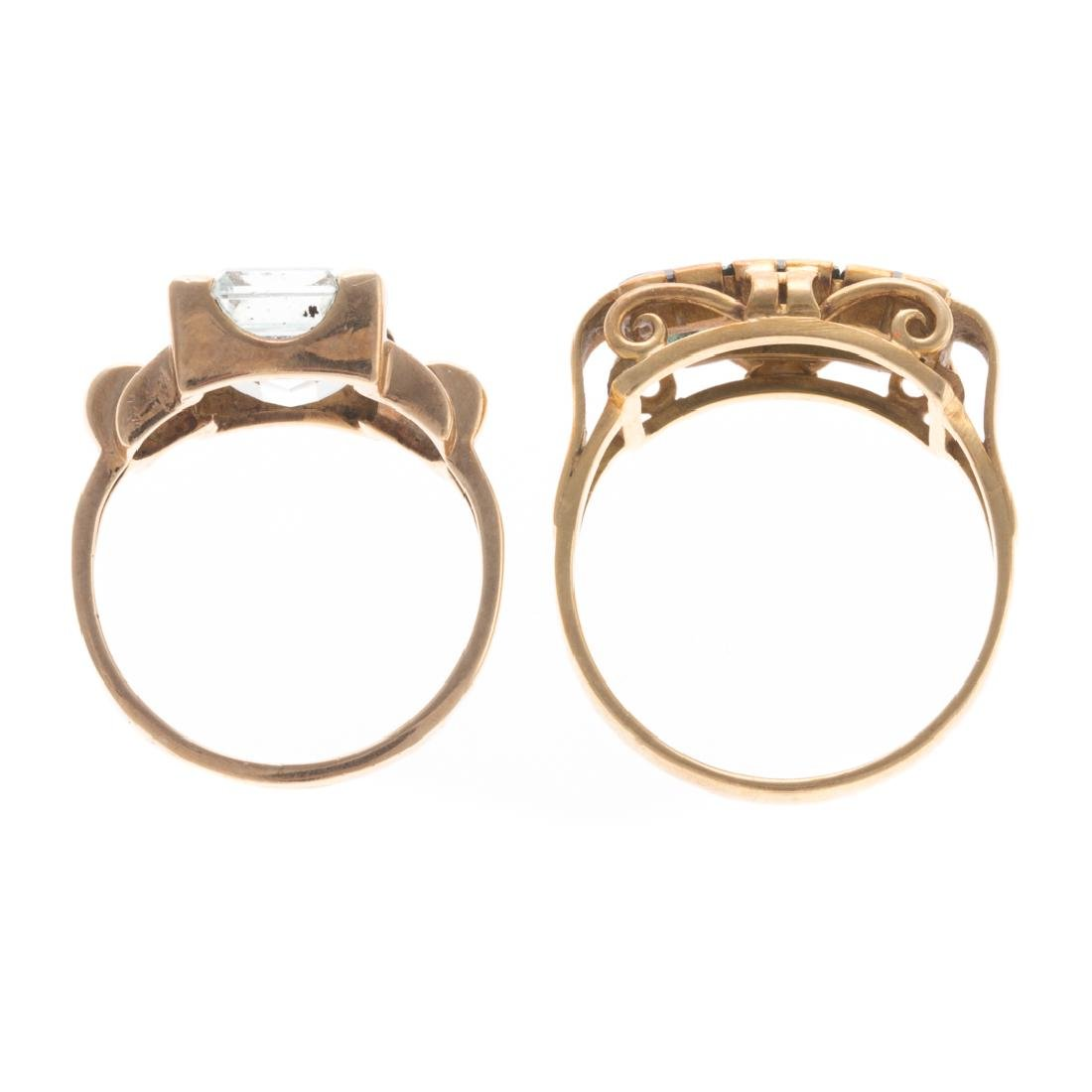 A Pair of Gemstone Rings in Gold - 6