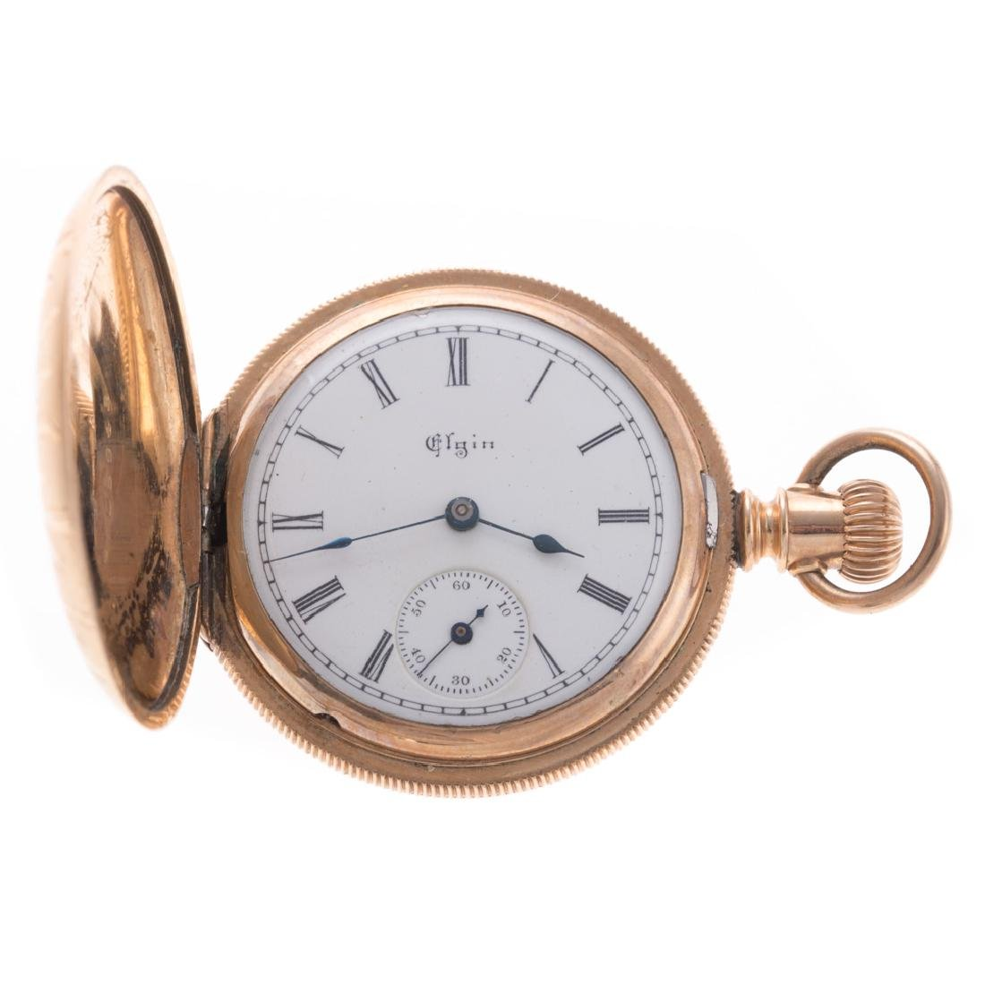 A Lady's 14K Hunter Case Pocket Watch