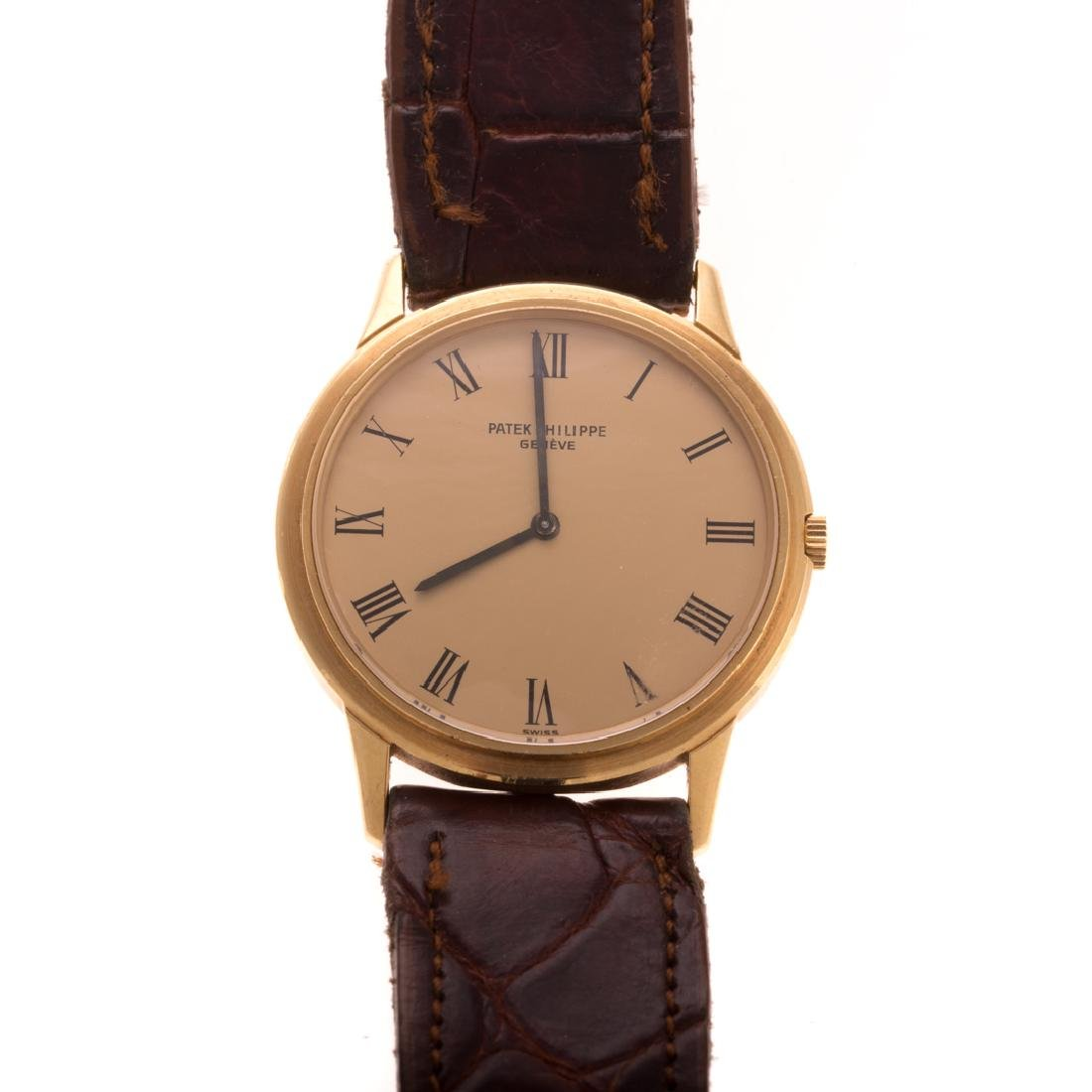 A Gent's 18K Patek Philippe Watch with Box