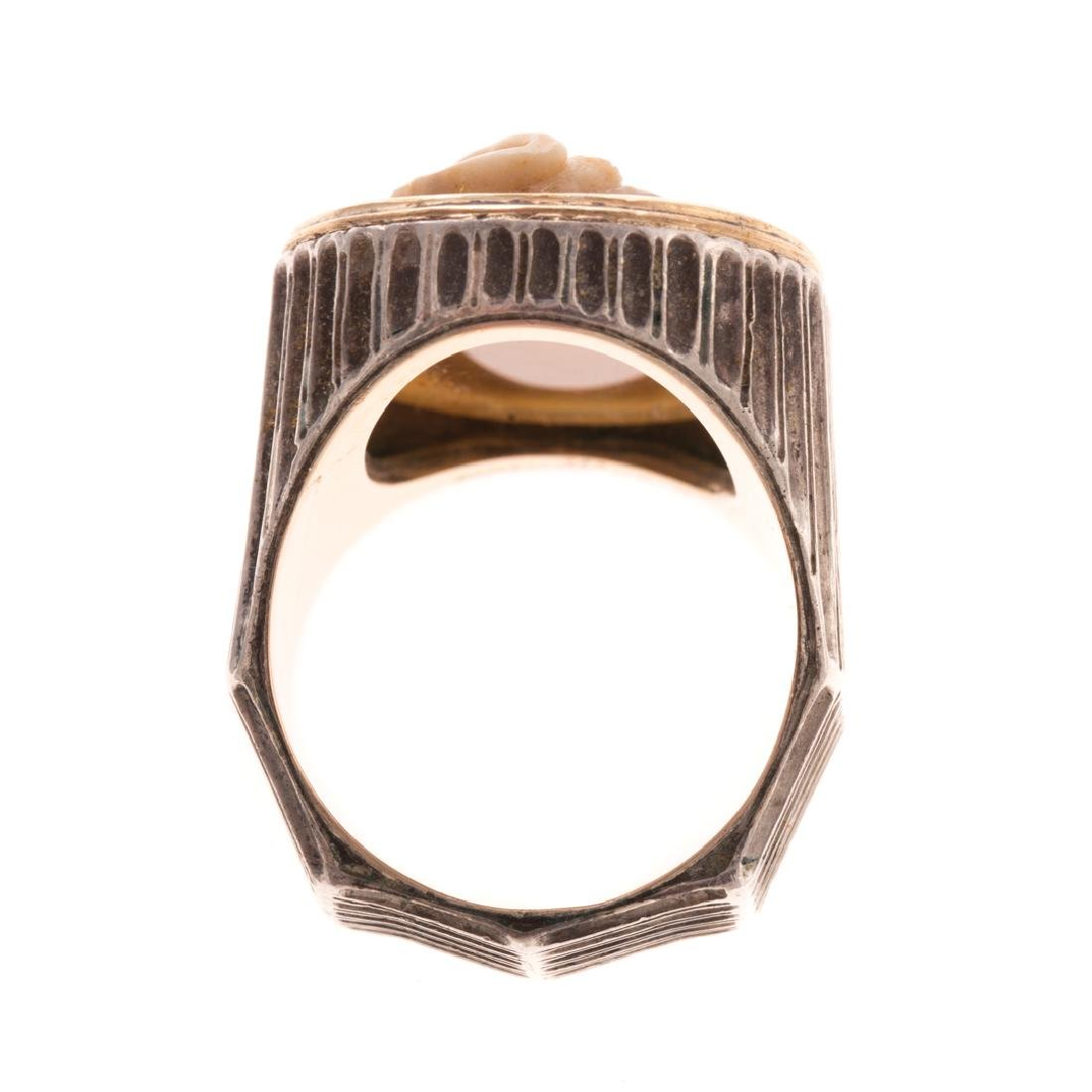 A 18K & Silver Cameo Ring by Buccellati - 3