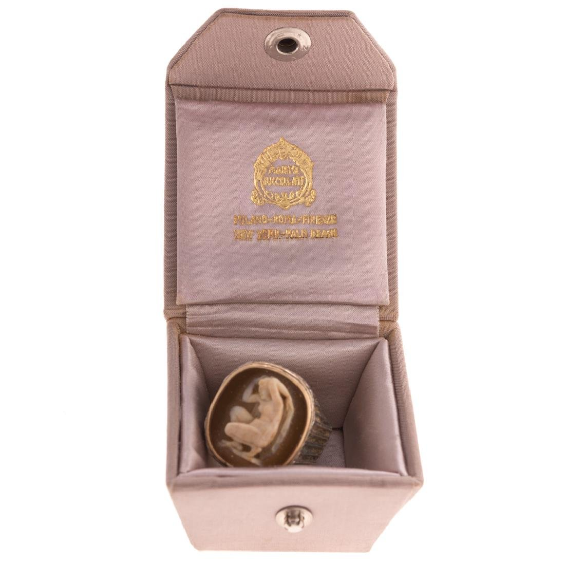 A 18K & Silver Cameo Ring by Buccellati - 4