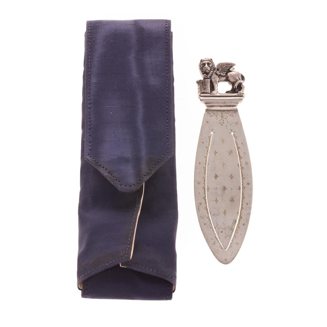 A Silver St. Mark's Lion Bookmark by Buccellati - 5