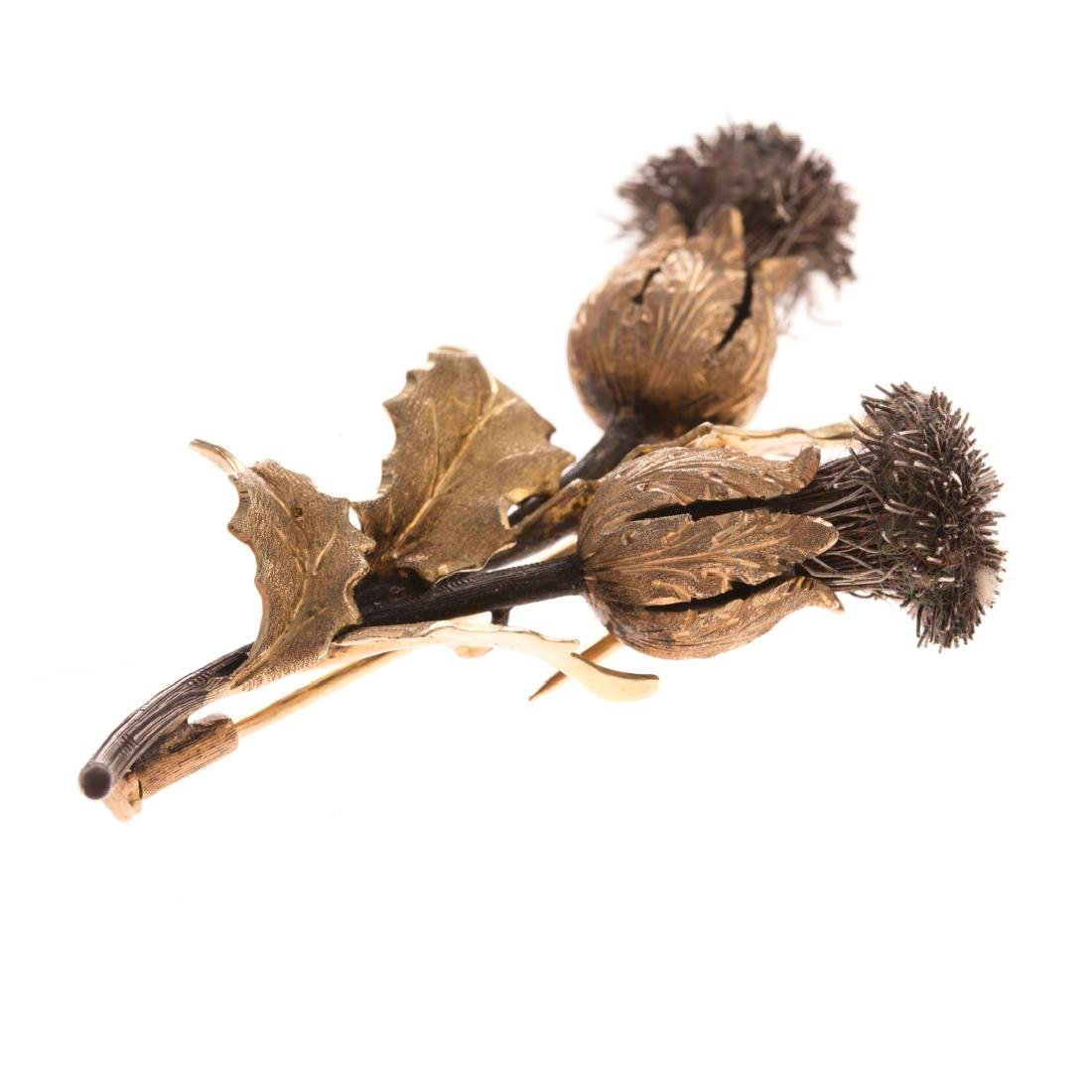 A Lady's 18K Double Thistle Brooch by Buccellati - 2