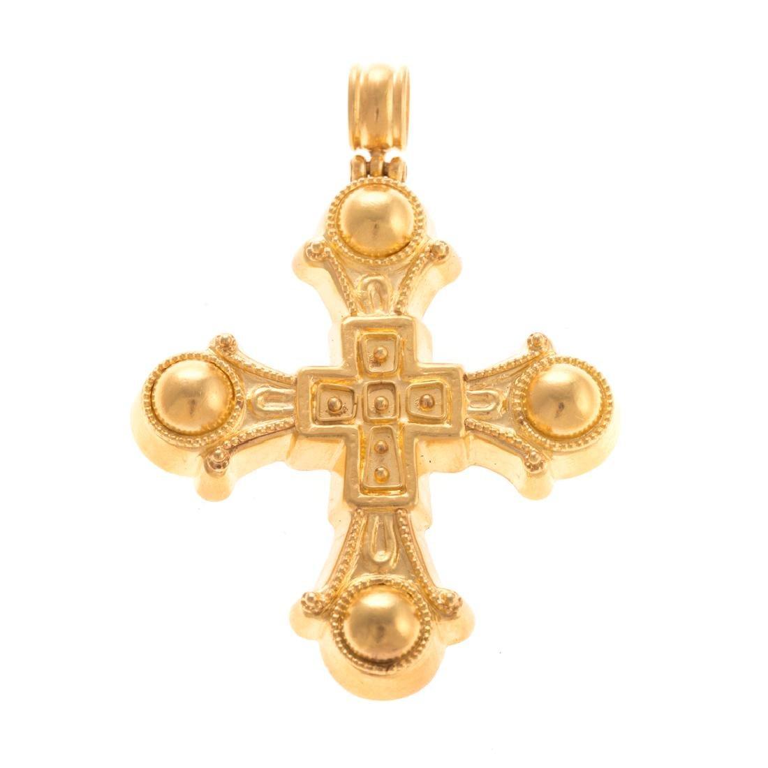 A Lady's 22K Maltese Cross Pendant