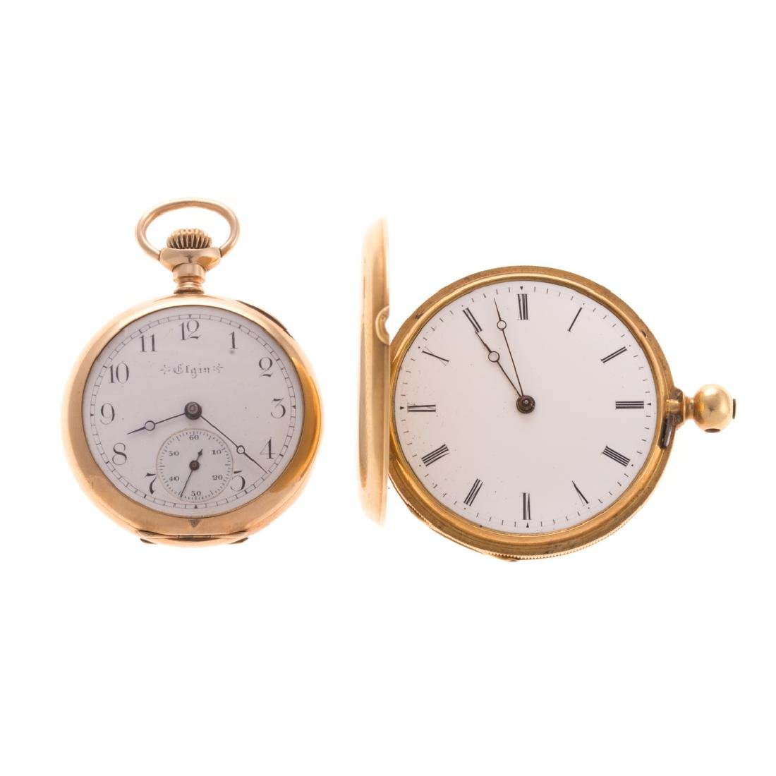 A Pair of Lady's Engraved Pocket Watches