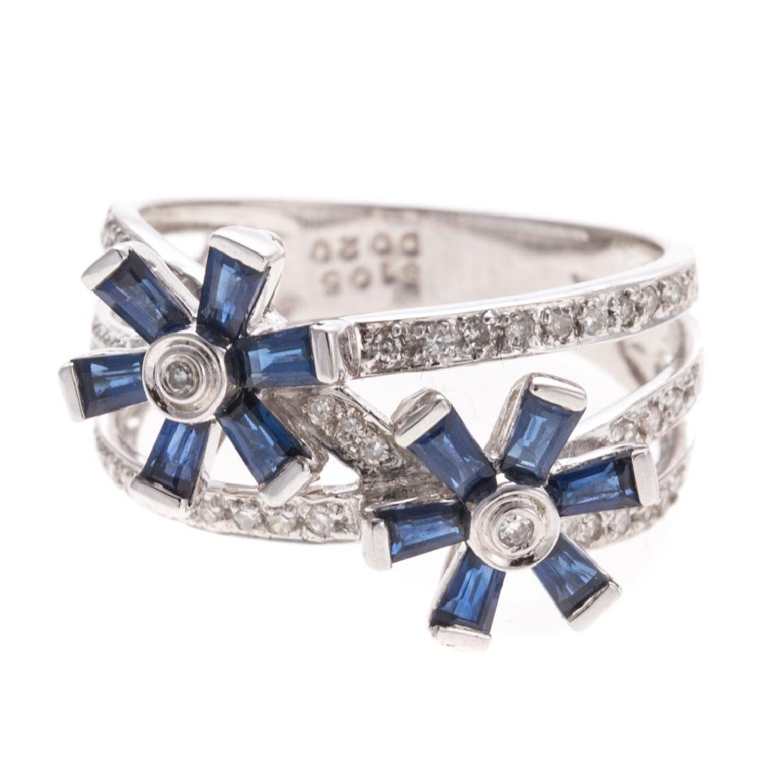 A Lady's Sapphire & Diamond Ring in 14K Gold - 2
