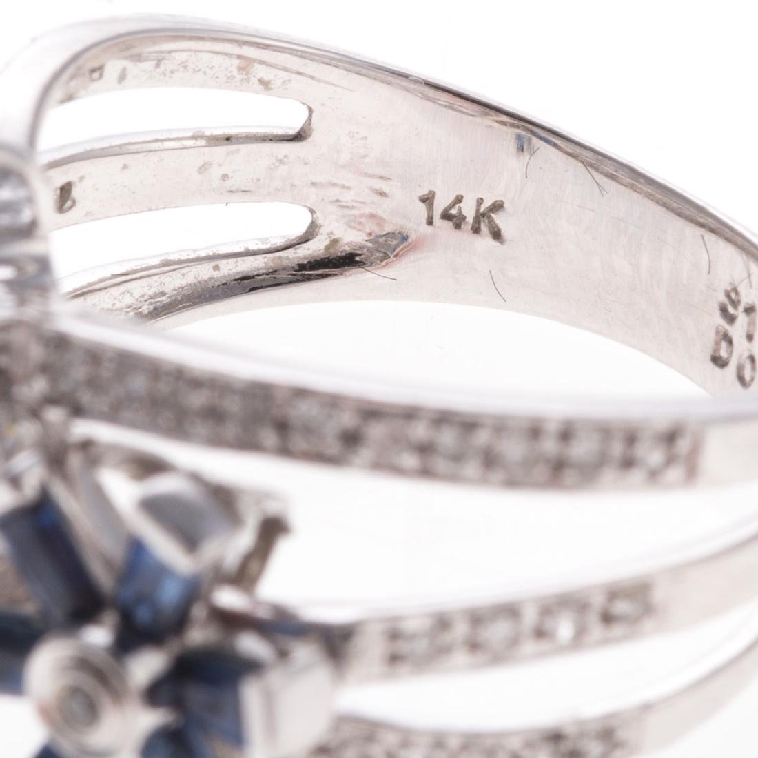 A Lady's Sapphire & Diamond Ring in 14K Gold - 5