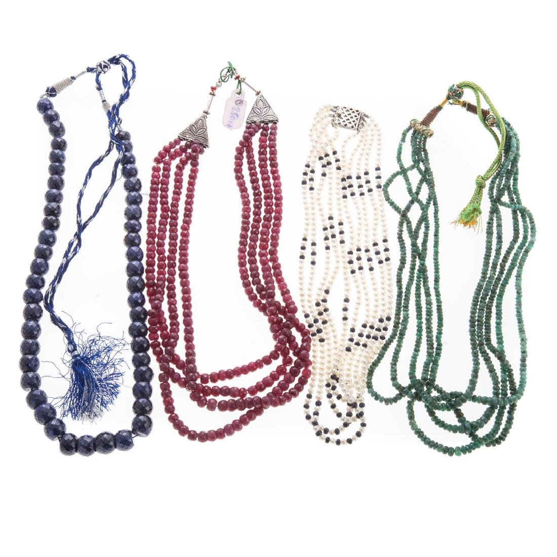A Selection of Natural Gemstone Necklaces
