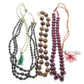 A Collection of Natural Gemstone Beaded Necklaces