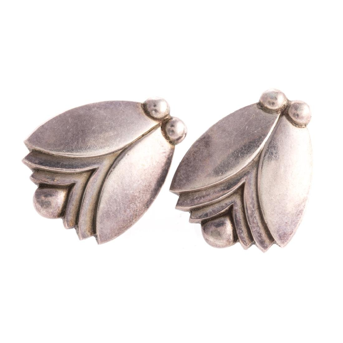 A Collection of Georg Jensen Silver Jewelry - 2