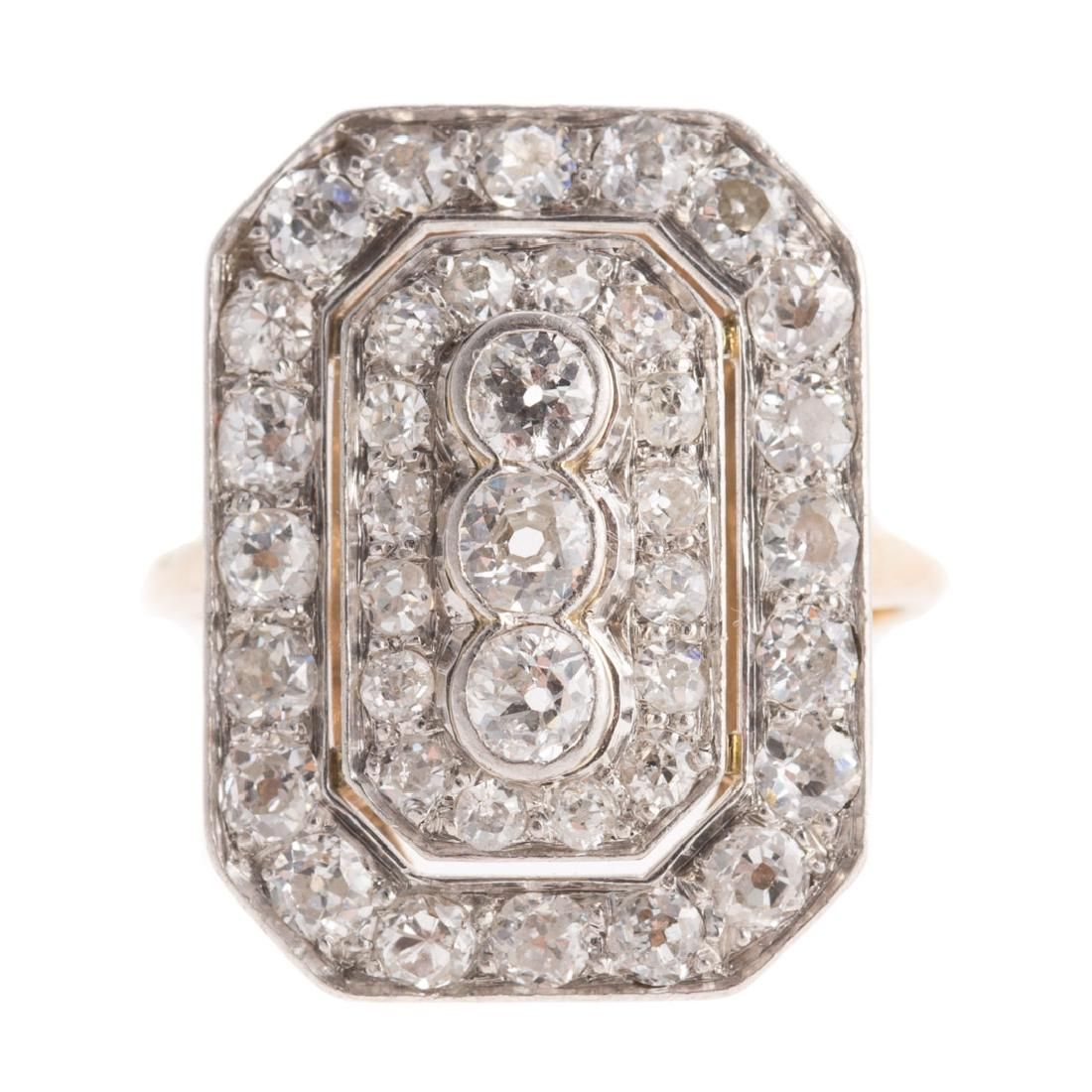 A Lady's Art Deco 14K/Platinum Diamond