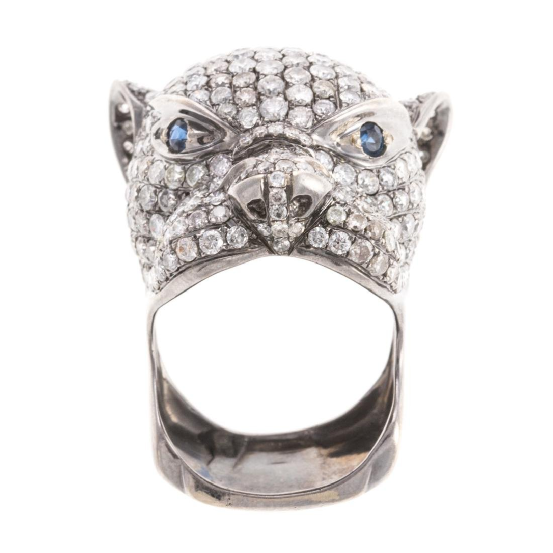 A Diamond Panther Ring in 18K Gold
