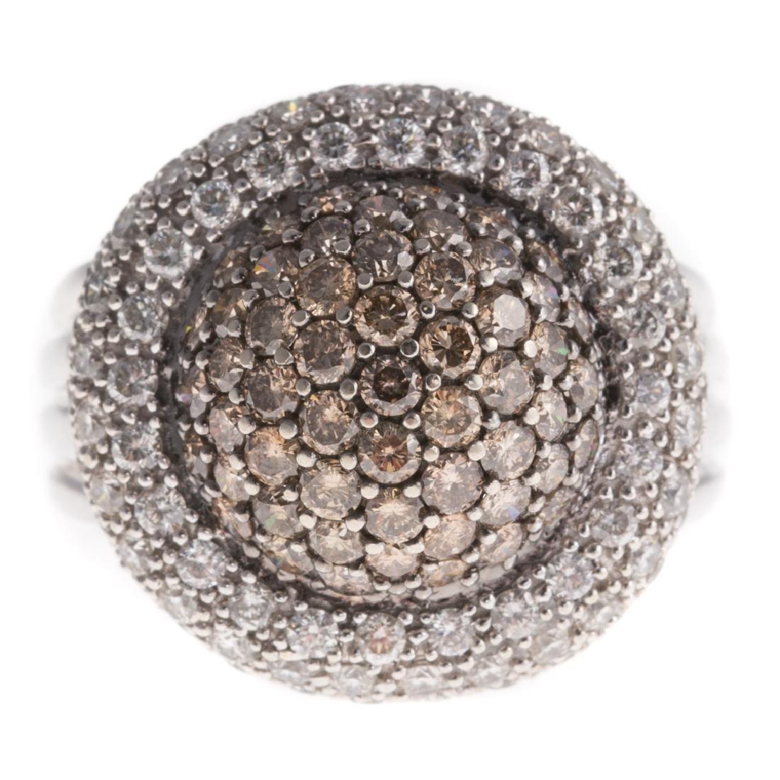 A Lady's Levian Chocolate & White Diamond Ring