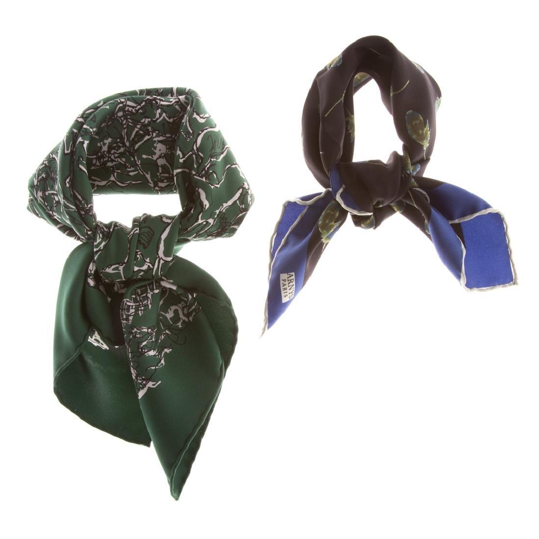 "Hermès ""Ranch Bandana"" 55 & Arny's of Paris Scarf"