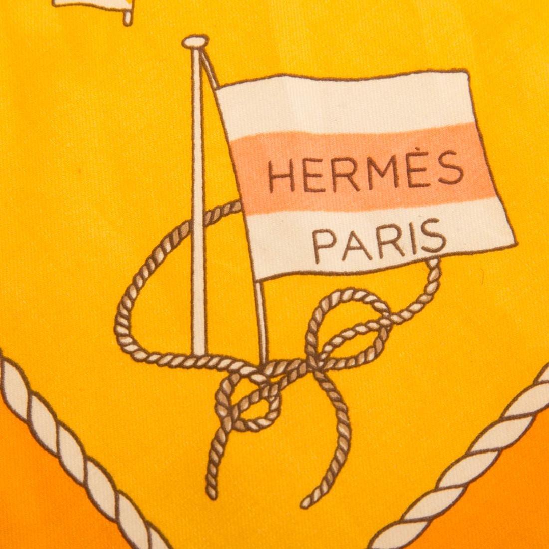 "Hermès ""Alphabet Nul"" Scarf 40 & Tulip Motif Scarf - 7"