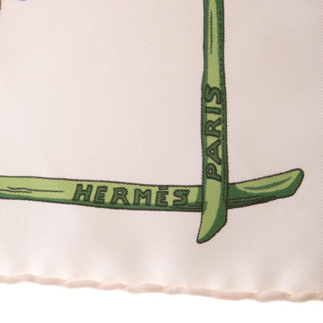 "Hermès ""Alphabet Nul"" Scarf 40 & Tulip Motif Scarf - 8"