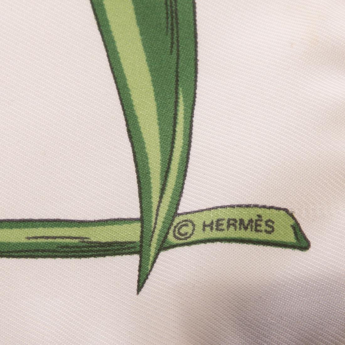 "Hermès ""Alphabet Nul"" Scarf 40 & Tulip Motif Scarf - 9"