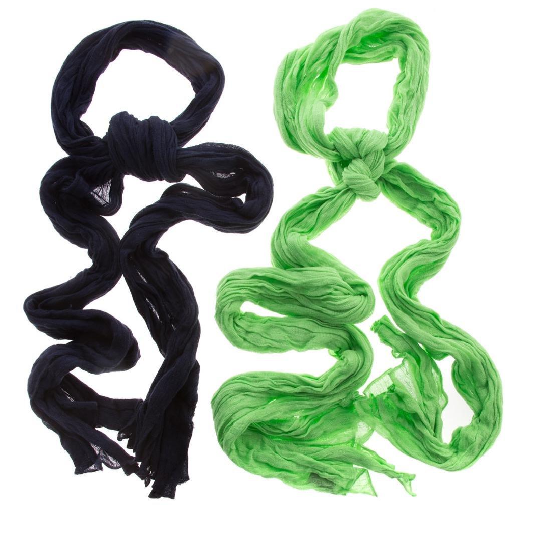 Two Hermès Cotton Scarves