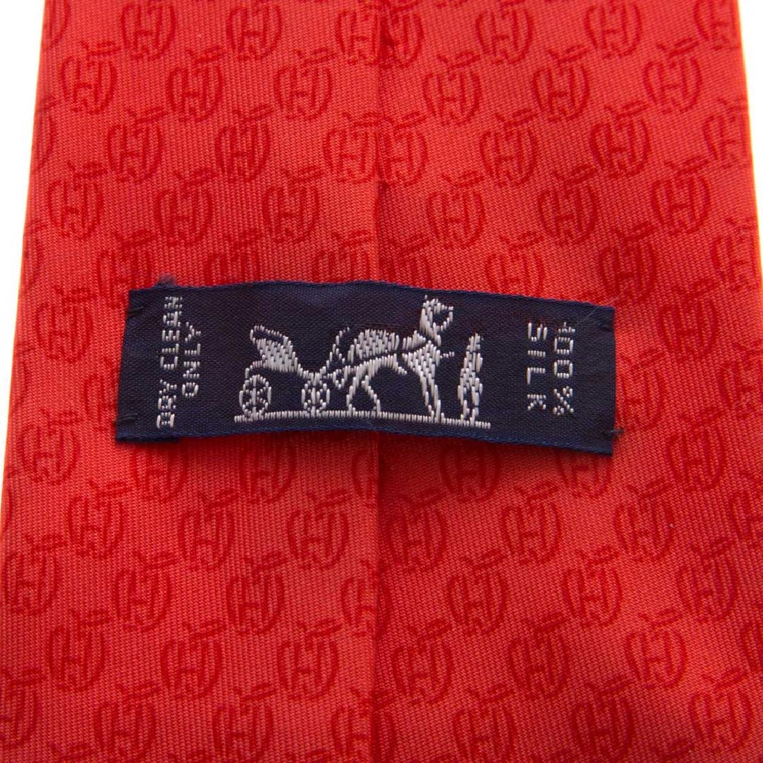 Hermès Apple Print Tie & Hounds Tooth Print Tie - 4