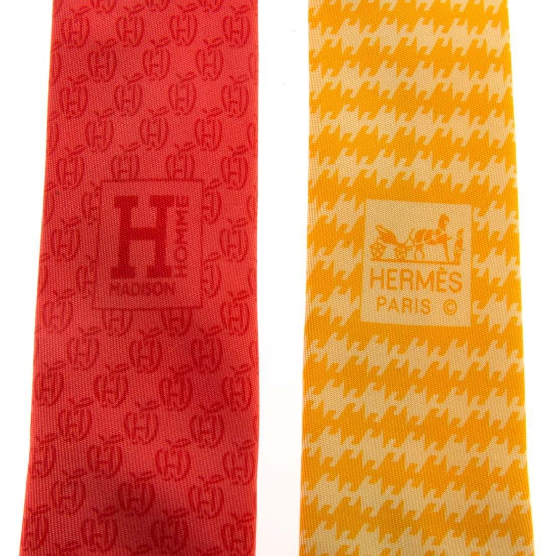 Hermès Apple Print Tie & Hounds Tooth Print Tie - 7