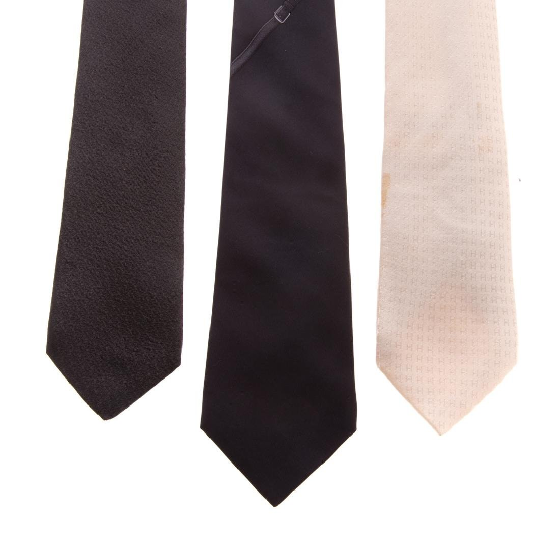 Three Gent's Hermès Dress Ties