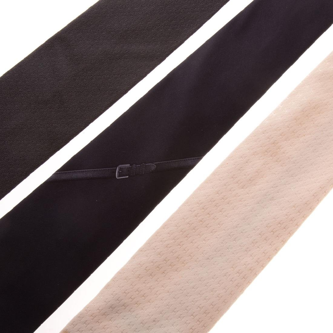 Three Gent's Hermès Dress Ties - 2