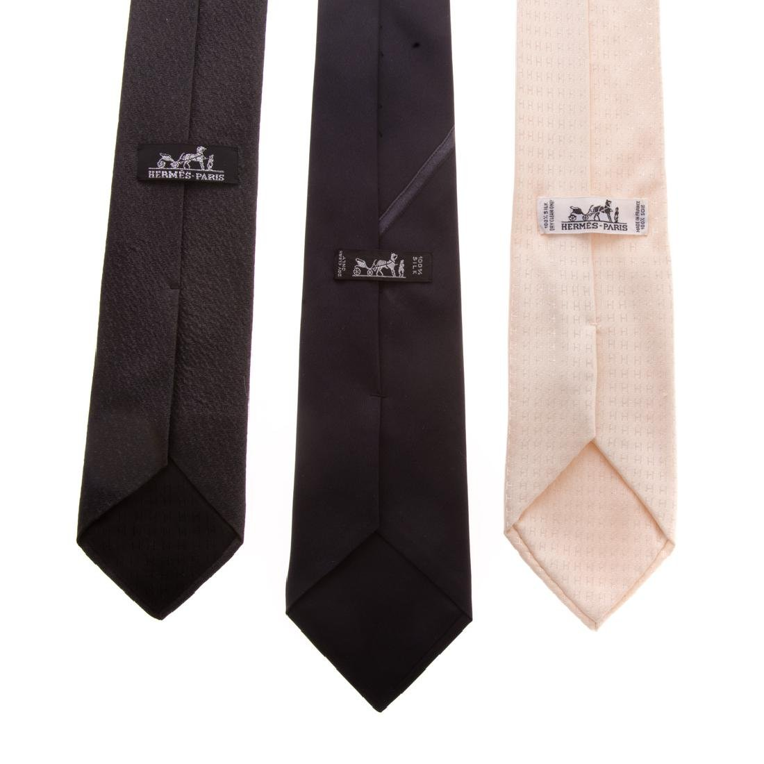 Three Gent's Hermès Dress Ties - 3
