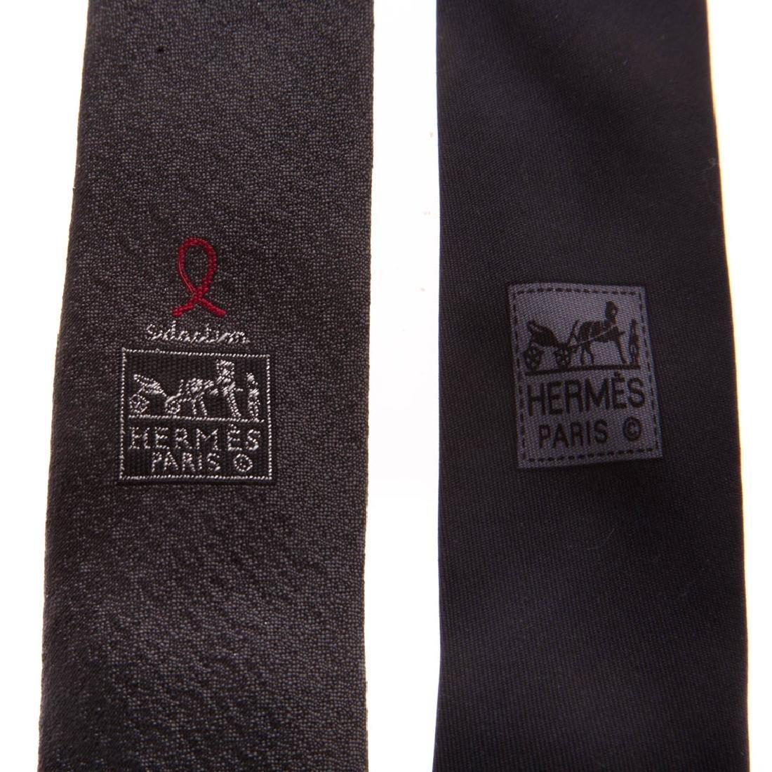 Three Gent's Hermès Dress Ties - 8