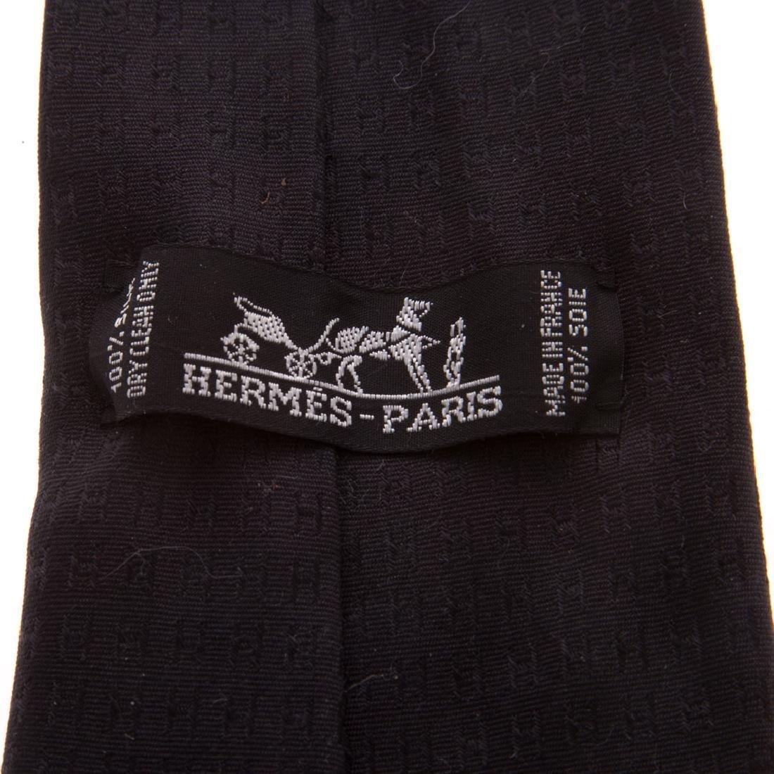 "Hermès ""Faconnee H"" Tie & ""Horse Racer"" Tie - 4"