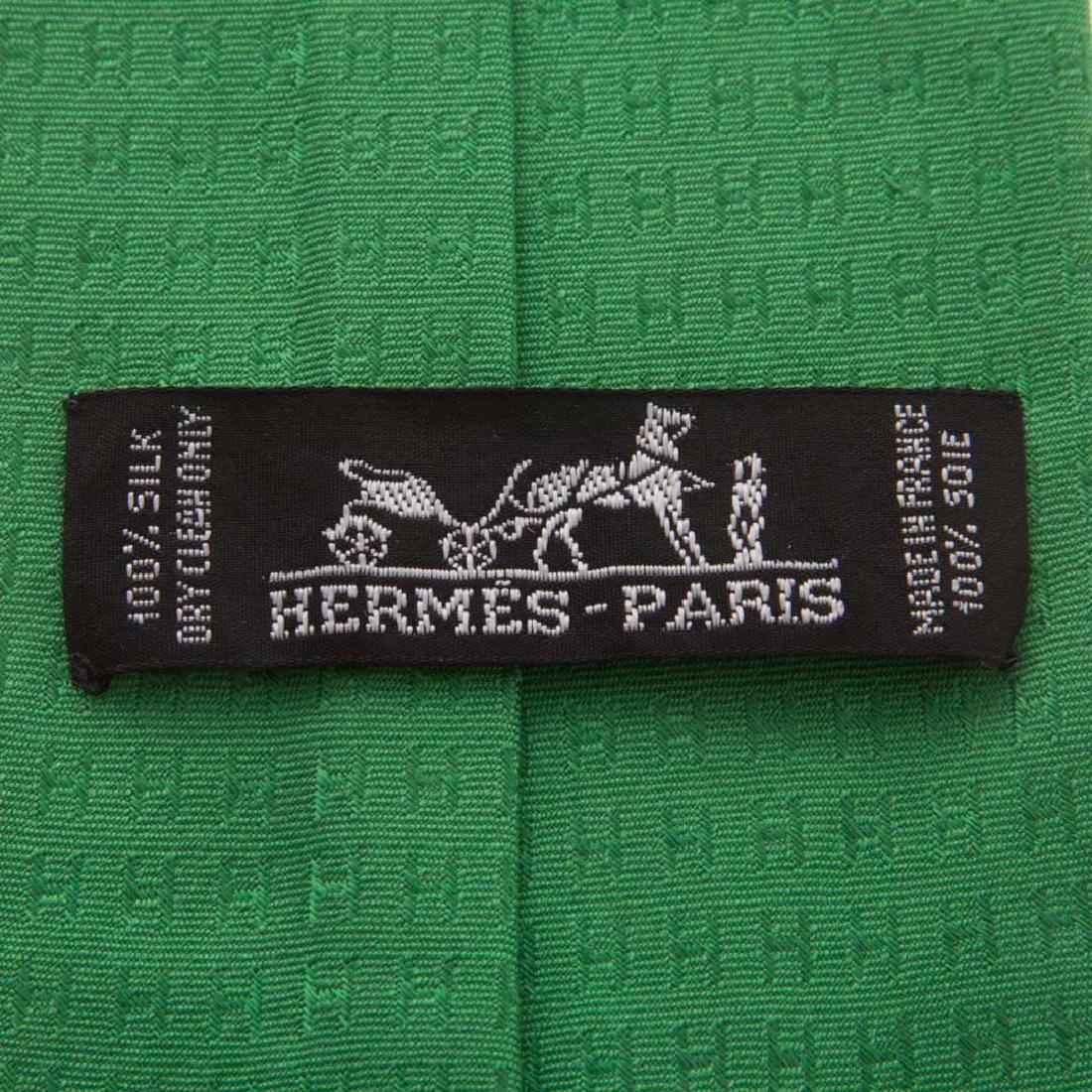 """Hermès """"Faconnee H"""" Tie & """"Glider Airplane"""" Tie - 4"""