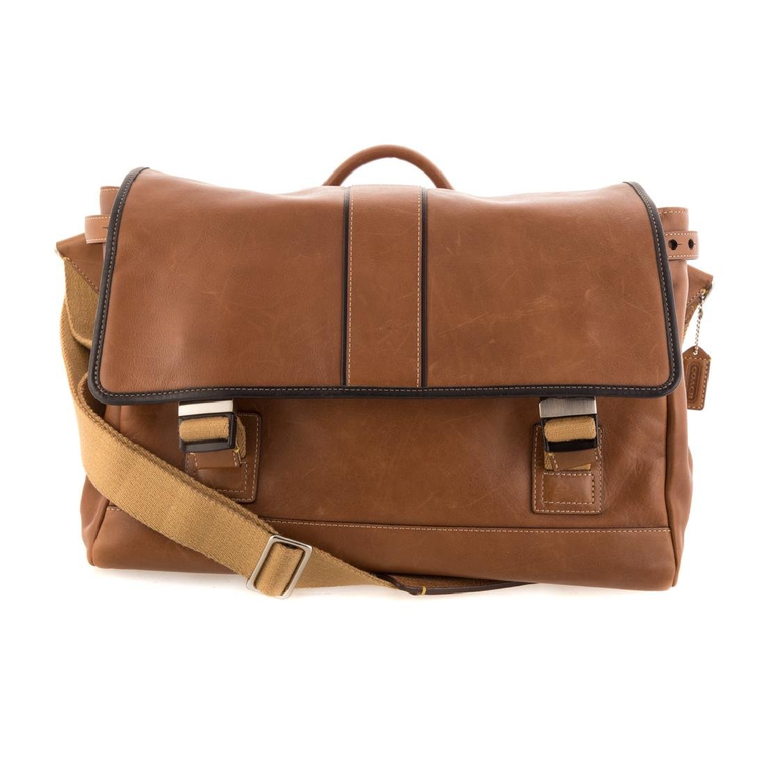 A Gent's Coach Leather Messenger Tote