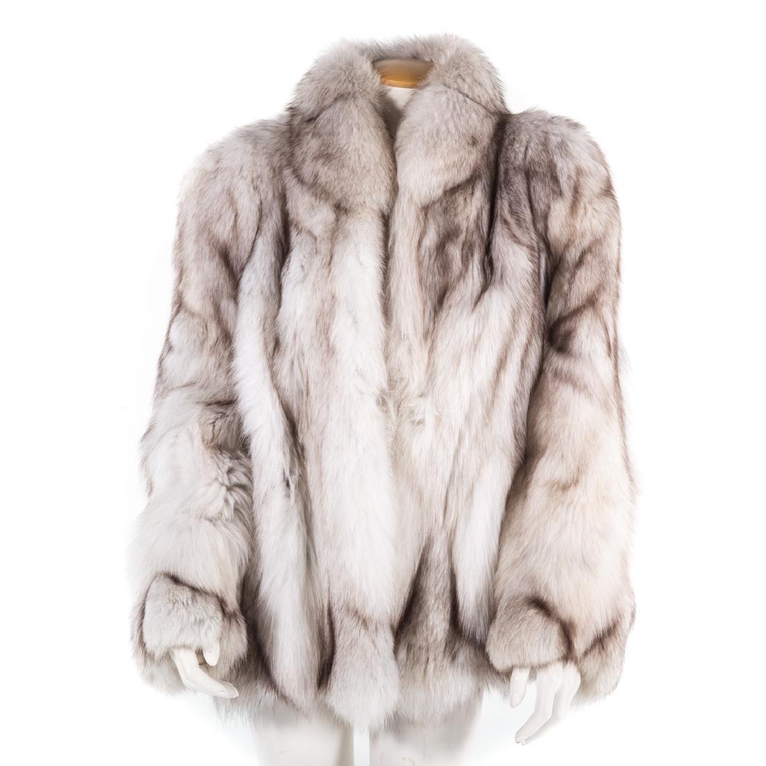 A Lady's Blue Fox Jacket
