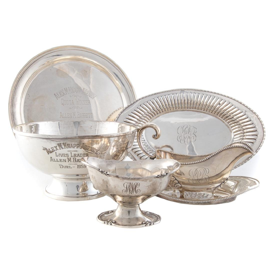 Collection of American sterling tableware