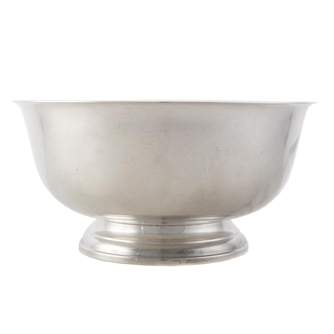 Paul Revere style sterling silver punch bowl