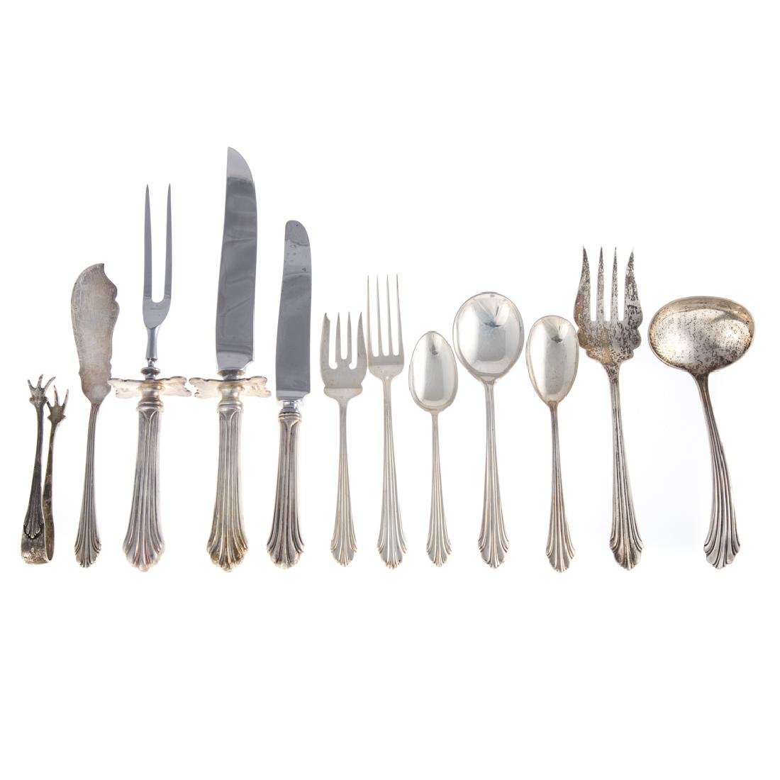 "Stieff ""Homewood"" sterling 47-pc flatware"