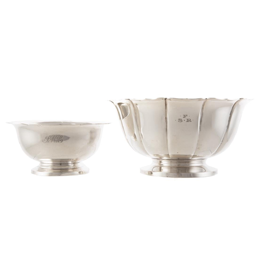 Pair American sterling silver bowls