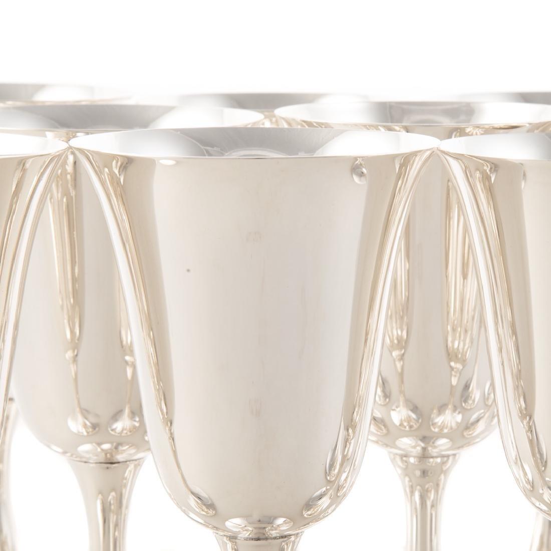 Set of 12 sterling water goblets Puritan pattern - 2