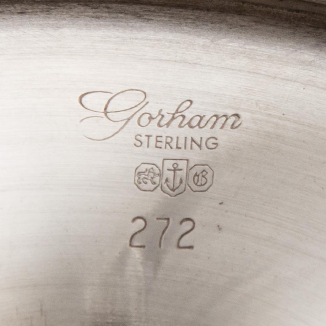 Set of 12 sterling water goblets Puritan pattern - 3
