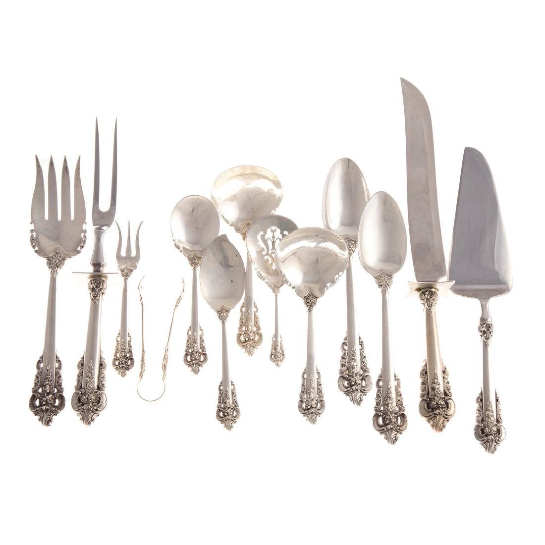 "Wallace ""Grande Baroque"" sterling serving pcs (13)"