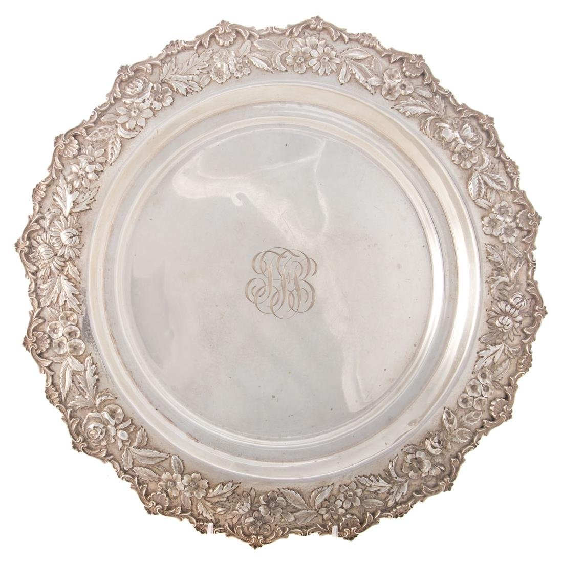 Kirk repousse sterling silver tray