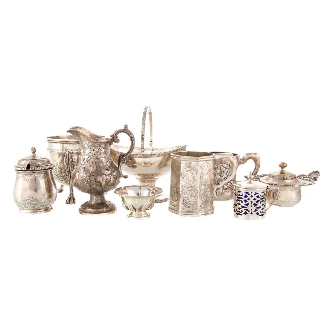 American & Continental silver hollowware (7)