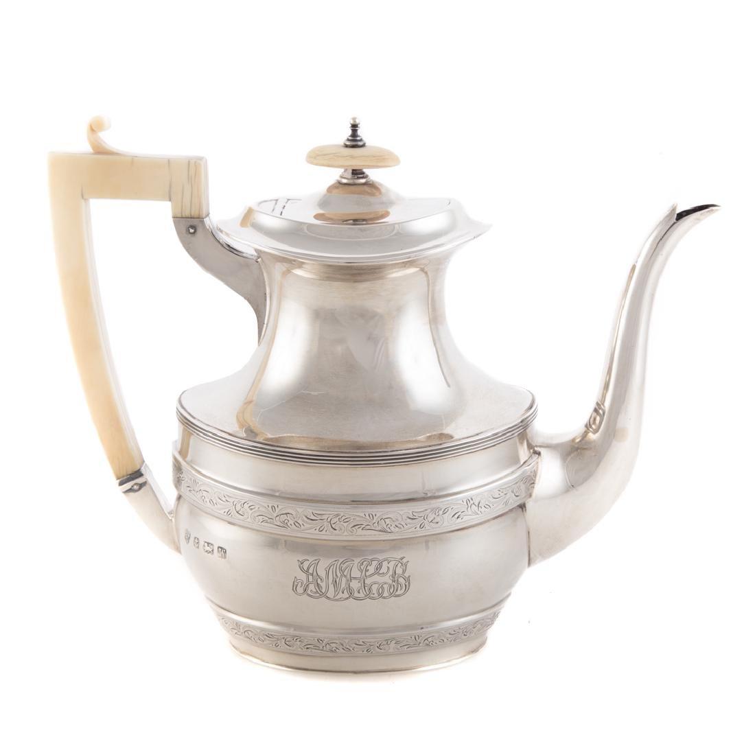 George V sterling 4-pc coffee & tea service - 2