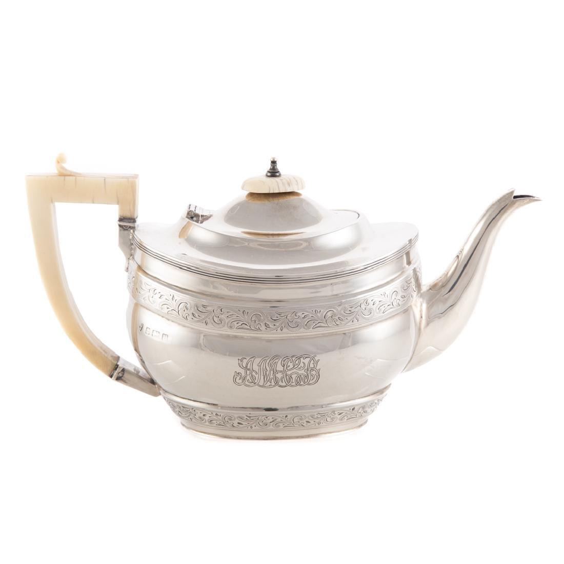 George V sterling 4-pc coffee & tea service - 3