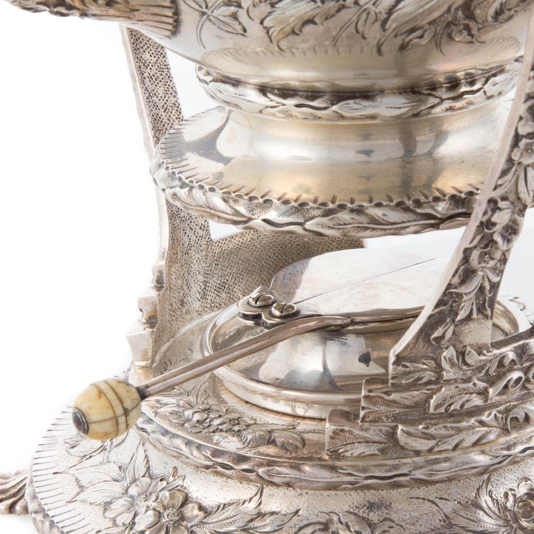 Kirk repousse sterling silver tea service - 7
