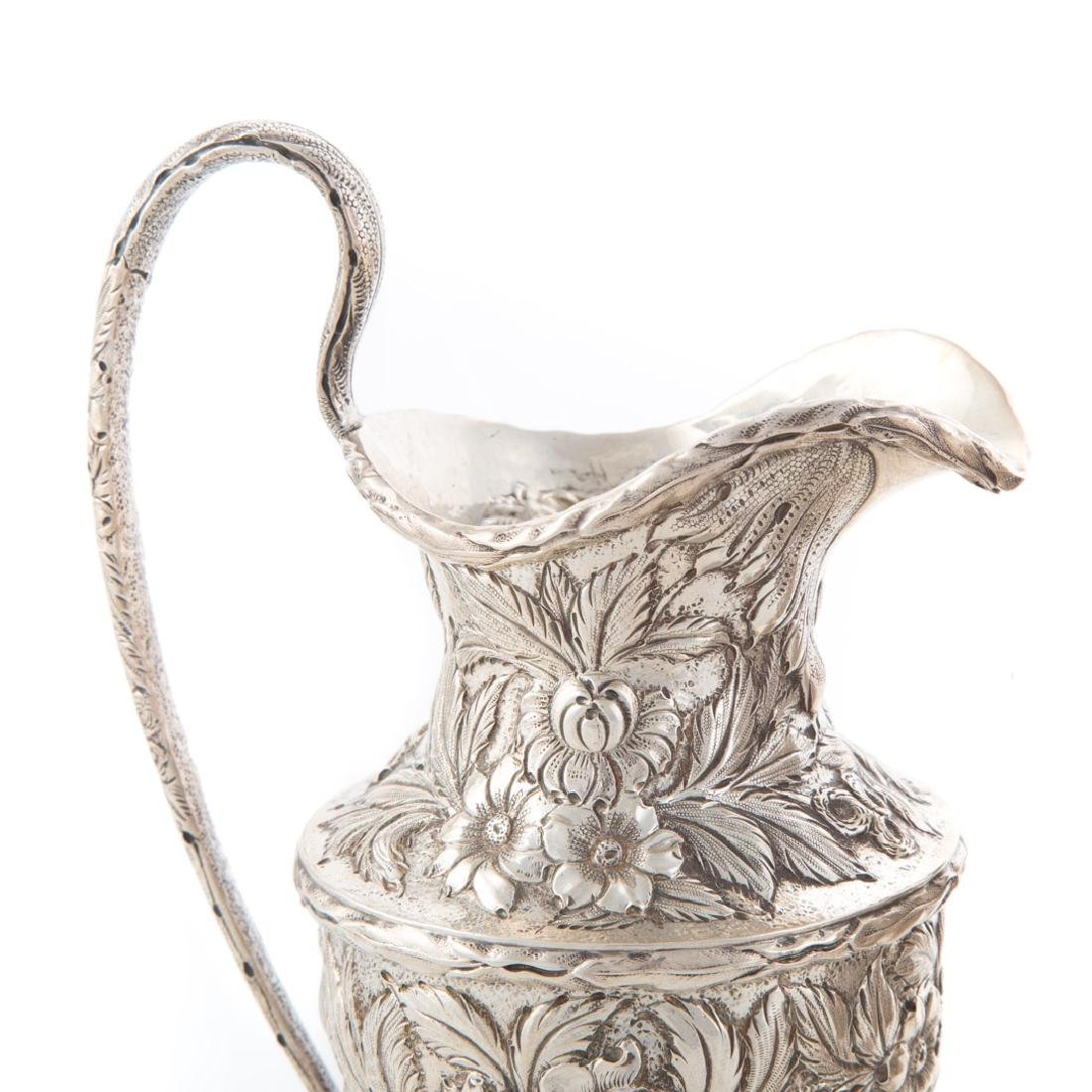 Kirk repousse sterling silver tea service - 8