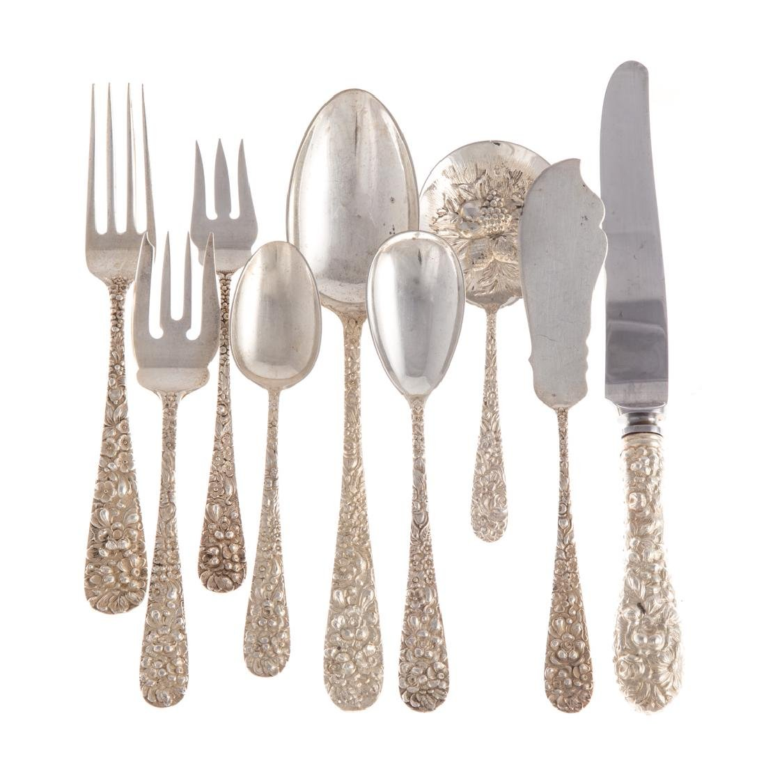 "Stieff ""Rose"" sterling 49-pc flatware"