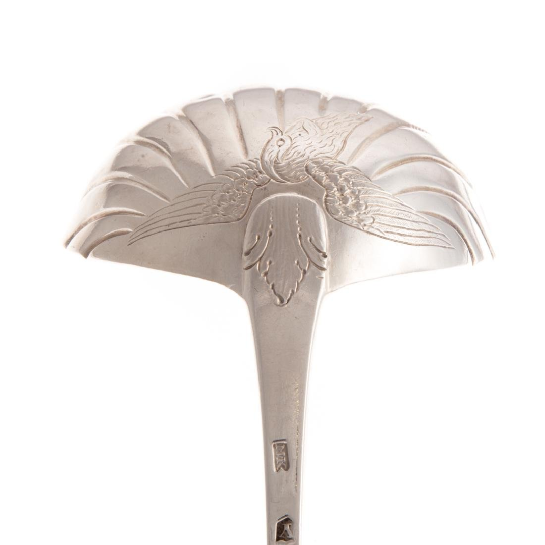 Continental silver soup ladle and fish slice - 5
