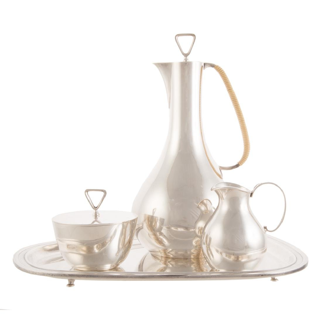 Modern Danish sterling coffee service Georg Jensen