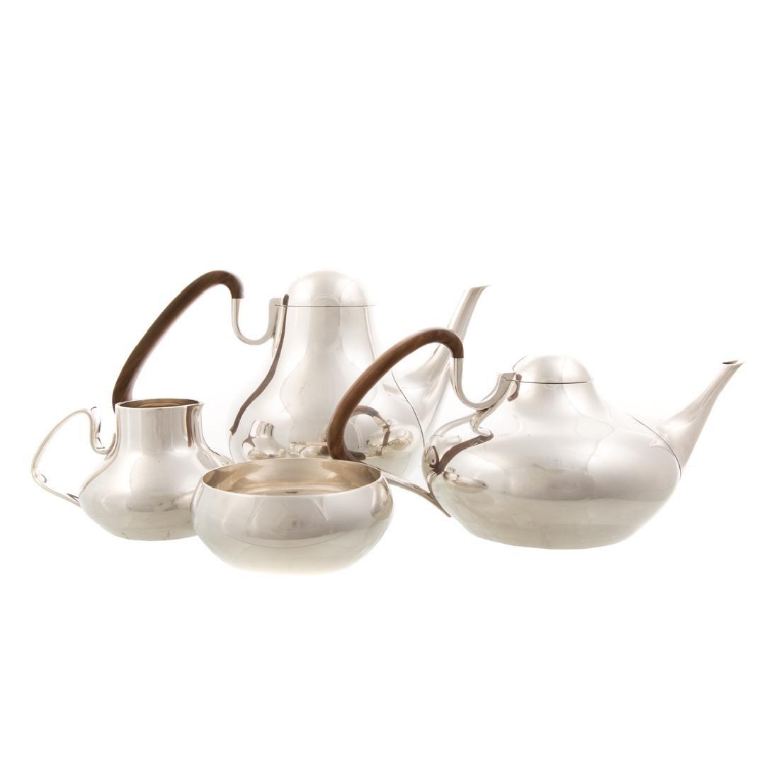 Mid-century modern Danish sterling coffee tea set